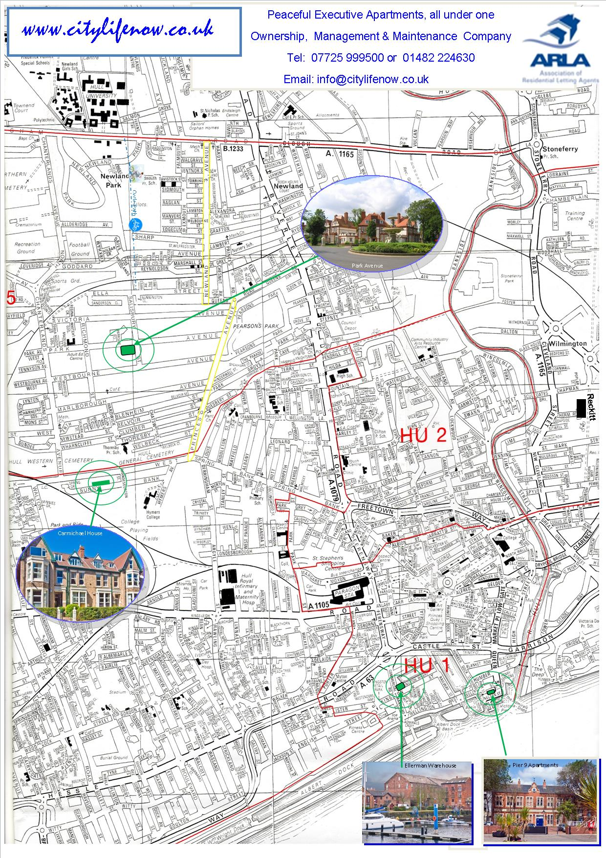 Map Of Uk Hull.Map Of Hull Streets